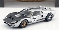 1966 Ford GT40 Mk II Silver and Black in 1:18 Scale by Shelby Collectibles