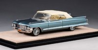 1962 Cadillac Series 62 Convertible Neptune Blue Metallic in 1:43 scale by Stamp Models