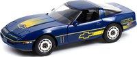 1988 Chevrolet Corvette C4 Blue in 1:18 Scale by Greenlight