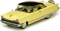 1956 Lincoln Premiere Hard Top in Presidential Black and Sunburst Yellow Diecast Model Car in 1:18 Scale by Sun Star