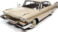 1957 Plymouth Fury Beige in 1:18 scale by Auto World