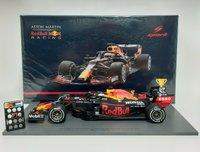 Aston Martin Red Bull Racing Winner 70th Ann GP 2020 Max Verstappen in 1:18 scale by Spark