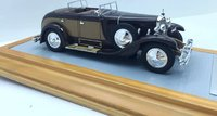 1928 Mercedes-Benz 630K Transformable Torpedo Saoutchik Open Top Resin Model Car in 1:43 Scale by Ilario