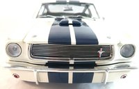 1966 Shelby GT350 Supercharged - White with Blue Stripes by Acme in 1:18 Scale
