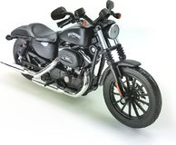 2014 Harley Davidson Sportster Iron 883 Black in 1:12 scale by Maisto