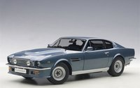 1985 Aston Martin V8 Vantage in Chichester Blue Diecast Model Car in 1:18 Scale by AUTOart
