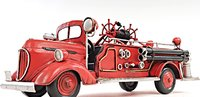 1938 Red Fire Engine Ford in 1:8 Scale by Old Modern Handicrafts