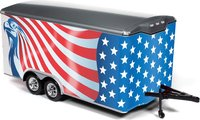 American Flag Enclosed Trailer in 1:18 Scale by Auto World