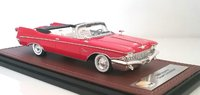 1960 Chrysler Imperial Crown Convertible in Red with top open by GLM in 1:43 Scale