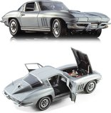 1965 Corvette Coupe in Silver with Black Interior by The Franklin Mint in 1:24 Scale