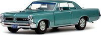 1965 Pontiac GTO in Reef Turquoise Irid Diecast Model Car in 1:18 Scale by Sun Star