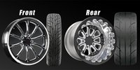 Drag Outlaws Comp Drag Wheel & Tire Set