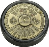 50-Year Calendar Black and Brass by Authentic Model