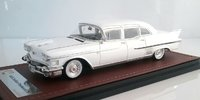 1958 Cadillac Fleetwood 75 Limousine White in 1:43 Scale By GLM