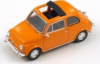 Fiat 500 L in  ORANGE Diecast Model Car in 1:43 Scale by Spark