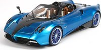 2017 Pagani Huayra Roadster in Blue Resin Model Car in 1:18 Scale by BBR