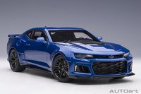 2017 Chevrolet Camaro ZL1 Hyper Blue Metallic in 1:18 Scale by Autoart