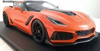 2019 Corvette ZR1 in Sebring Orange in 1:18 Scale by Topspeed