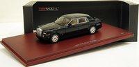 2009 Rolls Royce Phantom Sedan in Diamond Black Diecast Model Car in 1:43 Scale by True Scale Miniatures