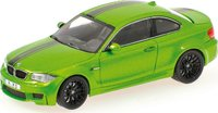 2011 BMW 1ER Coupe in Java Green Diecast Model Car in 1:43 Scale by Minichamps