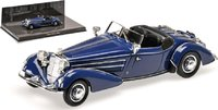 1938 Horch 855 Special-Roadster in Dark Blue Diecast Model in 1:43 Scale by Minichamps