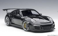 Porsche 911 (991) GT3 RS in Gloss Black in 1:18 Scale by AUTOart