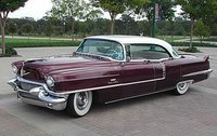 1956 Cadillac Sedan de Ville  Maroon/white in 1:43 Scale by GIM