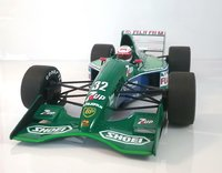 JORDAN FORD 191 - BERTRAND GACHOT - 6TH PLACE BRITISH GP 1991 in 1:18 scale by Minichamps