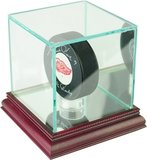 Single Hockey Puck Display Case w/glass top