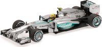 2013 MERCEDES AMG PETRONAS F1 TEAM W04 - LEWIS HAMILTON - 1ST PODIUM MALAYSIAN GP Diecast Model Car in 1:43 Scale by Minichamps