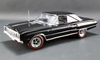 1967 Dodge Coronet R/T - Black Diecast Model by Acme in 1:18 Scale