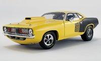 1972 Plymouth Cuda Drag Car Diecast Model by Acme in 1:18 Scale