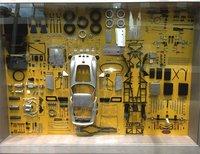 Ferrari 250 GTO in Silver parts display board in 1:18 Scale by CMC