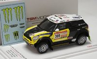 Mini Countryman All4 Racing # 302 2013 Dakar Rally Winner Model Car in 1:43 Scale TSM