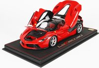 Ferrari LaFerrari High End Diecast with Special Leatherette Base in 1:18 Scale by BBR