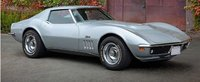 Chevrolet Corvette Coupe 1969 Silver in 1:18 scale by Norev