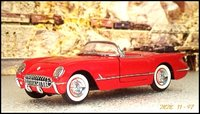 1954 Corvette Roadster in red in 1:24 scale by Franklin Mint