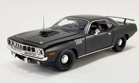 1971 Plymouth Hemi Cuda Black Satin Black Boards in 1:18 Scale by Acme