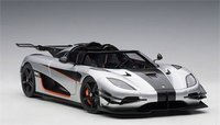 Koenigsegg Agera RS Silver With Black Accents in 1:18 Scale by AUTOart
