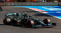 Aston Martin AMR21 No.5 2nd Azerbaijan GP 2021 Sebastian Vettel in 1:18 scale by Spark