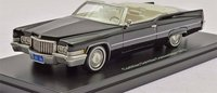 1970 Cadillac DeVille Convertible Black in 1:43 Scale by Neo