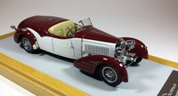 1934 Bugatti 57 Roadster Gangloff sn57217 Original Car Maroon Resin Model Car in 1:43 Scale by Ilario