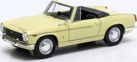1962 Innocenti 950-S Spider in Yellow Diecast Model Car in 1:43 Scale by Matrix