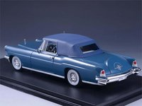 1956 Continental Mark II Cabriolet Blue Resin Model in 1:43 Scale by GLM