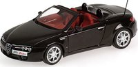 ALFA ROMEO SPIDER 2007 in BLACK METALLIC Diecast Model Car in 1:43 Scale by Minichamps