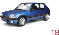 1991 Peugeot 205 GTI 1.9 Blue in 1:8 Scale by GT Spirit