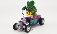 1932 FORD BLOWN HOT ROD ROADSTER WITH RAT FINK FIGURE in 1:18 scale by Acme