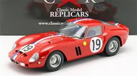 1962 Ferrari 250 GTO at Le Mans #19 in 1:12 Scale  by CMR
