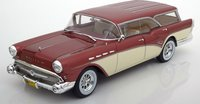 1957 Buick Century Caballero Estate in Metallic red / Light beige  by BoS Models in 1:18 Scale