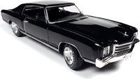 1970 Chevrolet Monte Carlo SS 454- Tuxedo Black w/Black Vinyl Roof in 1:18 scale by Auto World